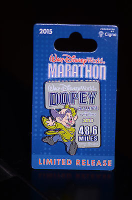 NEW Walt Disney World 2015 Marathon Pin Dopey Challenge 48.6 Mile