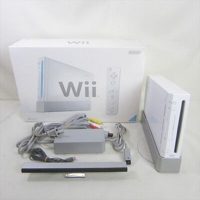 Nintendo Wii White Console System Boxed RVL-001 Tested No Controller JAPAN 0917