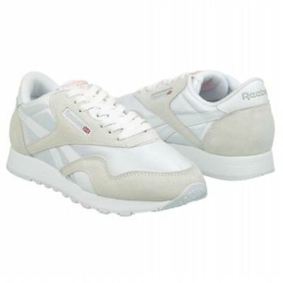 a77a73284358d Reebok Women s Classic Nylon Running Shoe in White with Lt. Gray Sizes 5 to  12