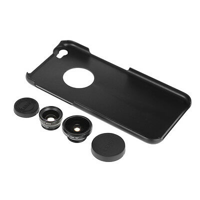 Hot 3 in 1 Fisheye + Wide Angle + Macro Lens + Hard Back Case For iPhone 6 Plus
