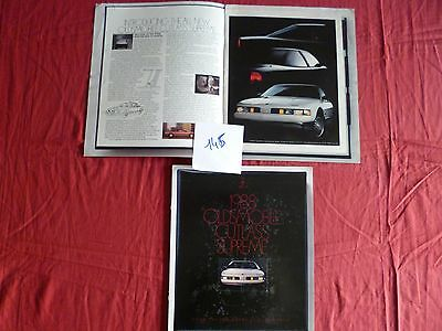 145 / OLDSMOBILE Cutlass supreme  1988 english text USA   10/87