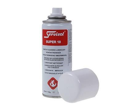 Servisol Super 10 Switch Cleaner Lubrication Film - Protects Your Equipment