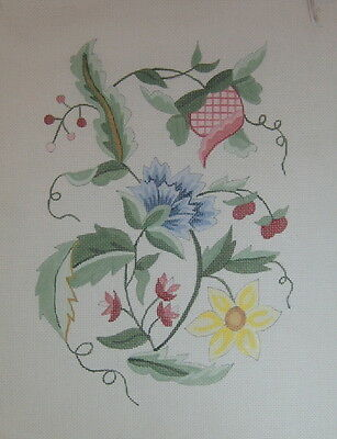 Jacobean -Hand Painted Needlepoint Canvas