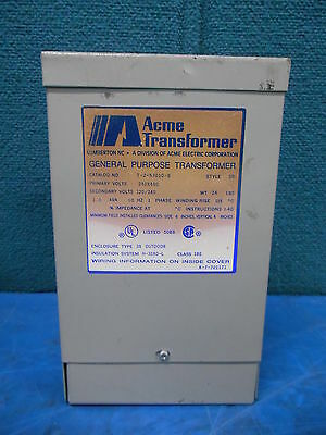 Acme General Purpose Transformer T-2-53010-S Outdoor 3R Type 2 Style SR