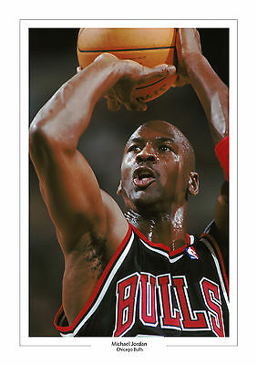 Michael Jordan A4 Print Photo Chicago Bulls Basketball 3