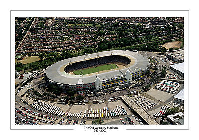 Aerial Photo Old Wembley Stadium London A4 Print Photo