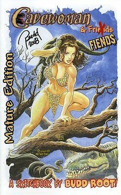 CAVEWOMAN CONVENTION BOOK - 2008 Heroes Con -MATURE- SIGNED BY BUDD ROOT!