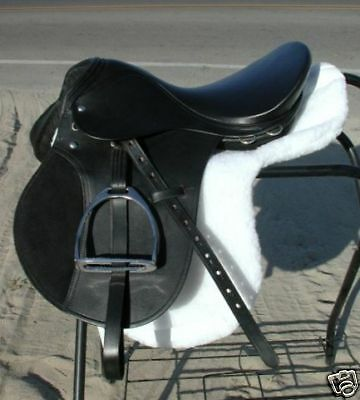"""Black Leather 19"""" Small Draft Horse English Saddle by Ascot ( WIDE TREE )"""