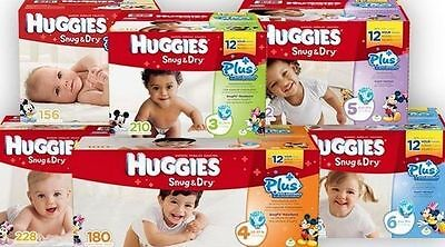 Huggies Snug and Dry Plus Diaper , Size 1 2 3 4 5 6 PICK ANY SIZE FREE SHIPPING