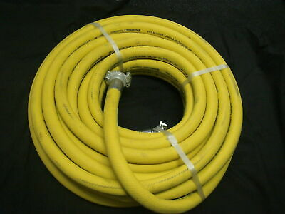 "Continental Made in USA 1"" (25mm) x 20M x 250PSI Air/Water Hose w/ Type A Claws"