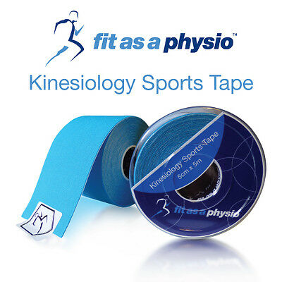 Kinesiology Sports Strapping Tape - 3 Blue Rolls