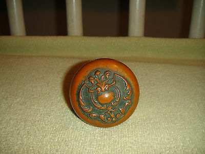 Antique Victorian Door Handle Door Knob-Arts & Crafts-Raised Design-LQQK