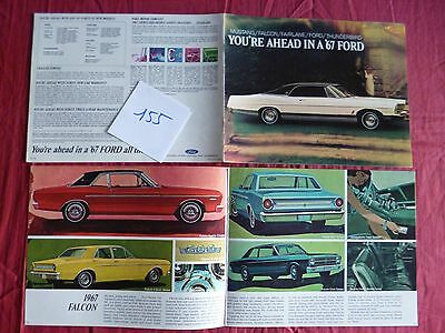 155 / FORD : catalogue gamme 1967   english text