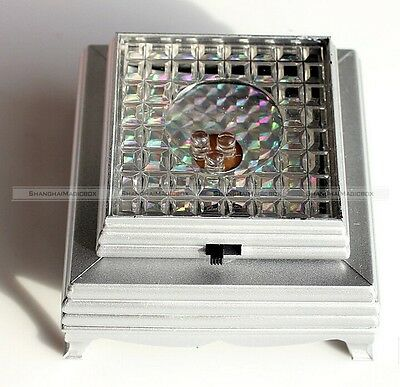 3D Crystal Glass Trophy Laser LED Battery Operated Light Stand Base Display
