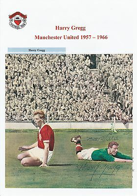 Harry Gregg Manchester United 1957-1966 Original Hand Signed Picture Cutting
