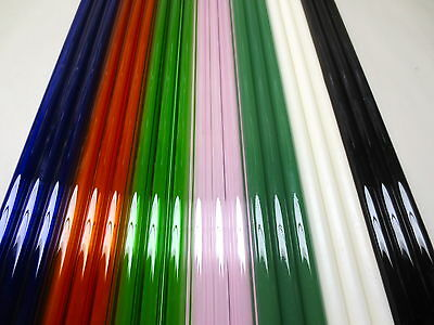 GLASS BLOWING LAMPWORK TUBING BORO PYREX MULTI COLOR 12MM X 2MM  21 TUBES 42 FT