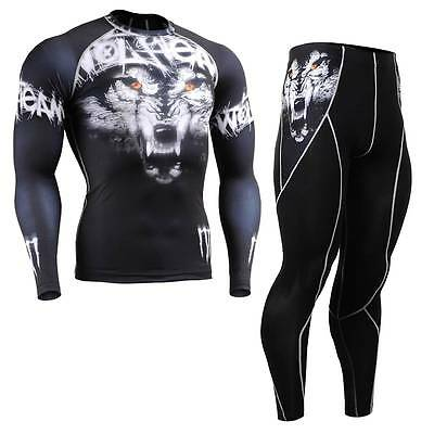 FIXGEAR CPD//P2L-B1 SET Compression Shirts /& Shorts Skin-tight MMA Training Gym