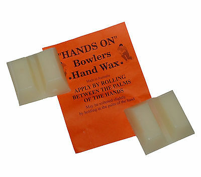 BOWLS Grip Aid Hands On Bowlers Hand Wax Four Blocks Australian Made Twin Pack