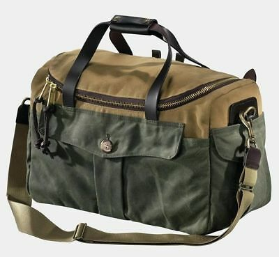 FILSON HERITAGE SPORTSMAN Bag Tan and Otter Green Style 70073 ... 8b8479f6ff