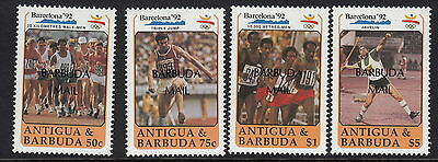 BARBUDA:1991 Olympic Games  set overprinted BARBUDA MAIL SG1252-5 unm.mint