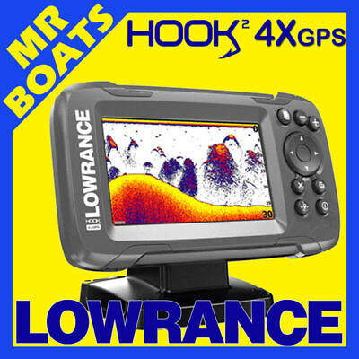 LOWRANCE HOOK2 4X FISHFINDER -GPS TRACKPLOTTER- BULLET Trans HOOK 2 4x FREE POST