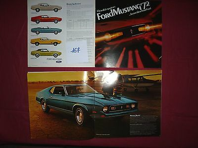 167 / FORD Mustang 1972   catalogue english text 3/72  Canada