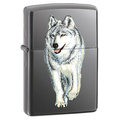 Zippo Classic Wolf Lighter Black Ice Finish Collectable Design Lifetime Warranty