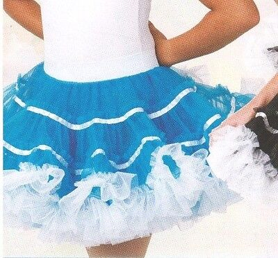 NWT Organdy PettiSkirt  Petticoat HipHop Dance CanCan Turquoise child/ladies szs