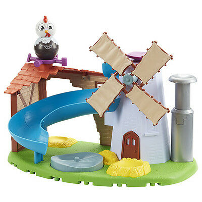 New Weebledown Farm Weebles - Wobbily Farm Mill & Barn with Rusty the Rooster We