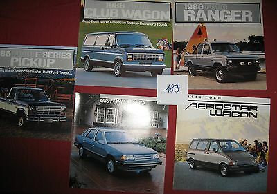 189 / FORD :  5   catalogues  1986  USA    8/85