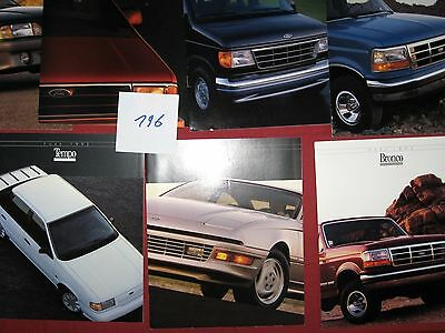 196 / FORD :  7  catalogues   1992  english text   USA  8/91