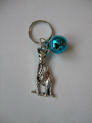Anti-Theft Purse Bell Kangaroo Charm Security Blue Handmade Australia Animal
