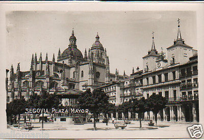 Antigua Postal Segovia Plaza Mayor Old Postcard Postkarte                Cc00639