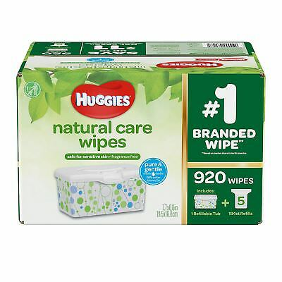 Huggies Natural Care Baby Wipes 920 ct. Fragrance & Alcohol Free |NO SALES TAX|
