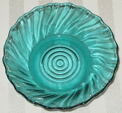"Jeannette Glass Swirl 5 1/4"" Berry Bowl ULTRAMARINE"