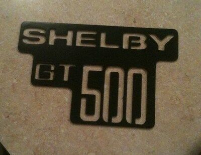 Black Painted Shelby GT 500 logo Metal Man Cave/Garage Wall Art