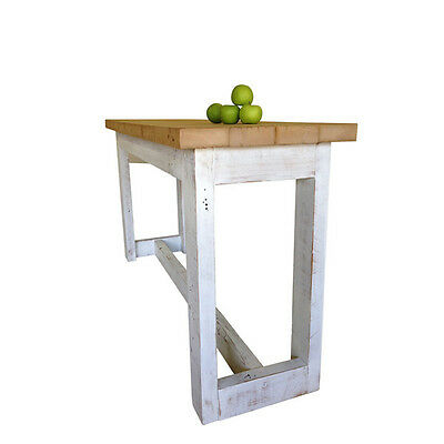 Rustic Solid Timber Petite Kitchen Island High Bench Bar Dining Table 6 Seater