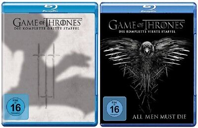 Game of Thrones Staffel 3+4 Blu-ray Set NEU OVP
