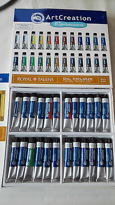 24 Tubos De Oleo 12 Ml Artcreation De Royal Talens,  Completa Gama De Colores