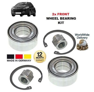 FOR PEUGEOT 207 1.4 2006-->ON NEW 2x FRONT WHEEL BEARING KITS