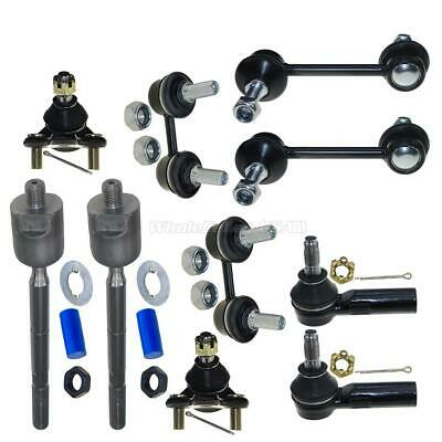 93-95 Fits Corolla Prizm 2 Control Ball Joint Tie Rods Sway Bar Links 10Pc Kit