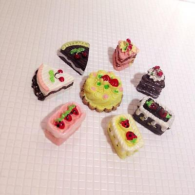8x Assorted Miniature Cakes Food for 12th Dolls House Bakery Shop Accessory