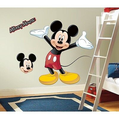 New Disney Giant MICKEY MOUSE WALL DECAL 9 Bedroom Stickers For Kids Room Decor
