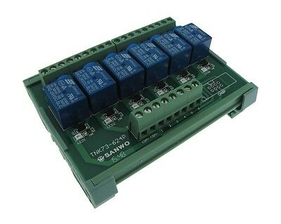 6 Channel 24VDC Relay Board PLC DIN Rail Mounting NPN