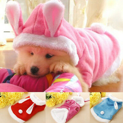 Pet Dog Cat Bunny Clothes Warm Clothes Autumn& Winter Puppy Costume Apparel