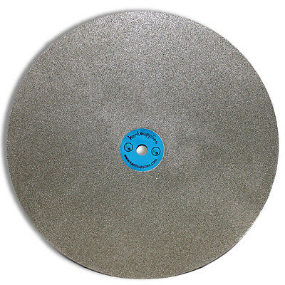 "KENT 12"" Diameter Quality Electroplated Diamond Coated Flat Lap Disk wheel"