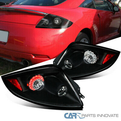 Mitsubishi 06-11 Eclipse Replacement LED Tail Lights Brake Stop Rear Lamps Black