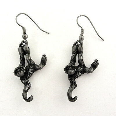 Gibbon Ape Monkey Earrings