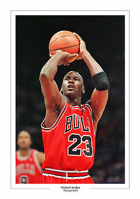 Michael Jordan A4 Print Photo Chicago Bulls Basketball