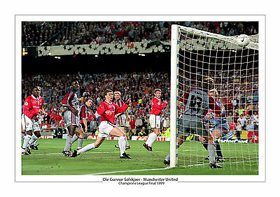 Ole Gunnar Solskjaer Manchester United Print Photo  1999 Champions League Utd A4